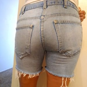 Authentic Vintage Denim Cut Off Distressed Shorts